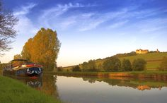 Photo of the Week: Hotel barge L'Impressionniste moored below Châteauneuf-en-Auxois in Burgundy