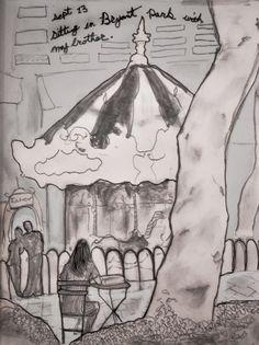 Danny Roberts bryant park, park artwork, danni robert