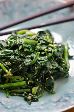 blissful eats w/ tina jeffers: japanese sesame spinach • bliss