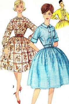 1950s Dress Pattern Simplicity 3513 Rockabilly Full by paneenjerez, $12.00