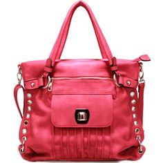 Gorgeous hot pink tote.....with pleated front.