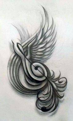New Music Tattoo Treble Clef Songs Ideas Music Drawings, Music Artwork, Pencil Art Drawings, Tattoo Drawings, Art Sketches, Music Tattoo Designs, Music Tattoos, Body Art Tattoos, Tatoos
