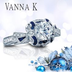 Only for those looking for something über unique and dazzling this holiday season...blue sapphires arranged within the most unusual of designs!     Click Here:http://ow.ly/fnlZI