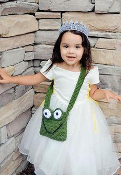 Crochet Frog Purse Tote Bag by GoodKarmaCrochet on Etsy, $24.00