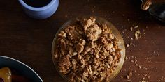 Oatmeal crumble topping