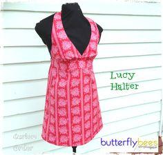 Lucy Halter in Jenny Eliza @sisboom fabric.  Custom Orders welcome  butterflybees@bigpond.com