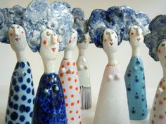Did you ever get the impression that far too many women have Bad Blue Hair Days? - Jane Muir artist
