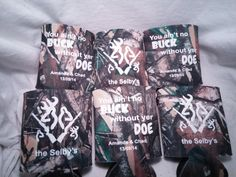 Camo Wedding  Koozies favors Screen by odysseycustomdesigns