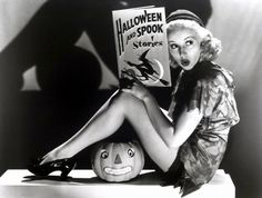 Betty Grable Halloween photo shoot.