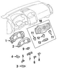 Exploded Auto Parts Diagram- INSTRUMENT PANEL COMPONENTS