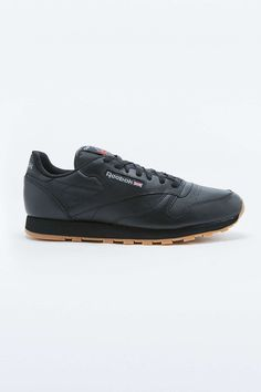 dcf17c4e1fab Reebok Classic Black Leather Gumsole Trainers