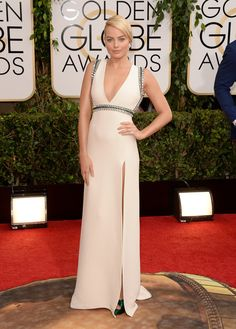 These Are, Hands Down, The Best 14 Outfits From 2014 - Margot Robbie in Gucci at the Golden Globes