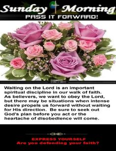 Sunday Morning for 06/13/2021 Spiritual Disciplines, Waiting For Him, Gods Plan, Sunday Morning, Blessing, Worship, June, Group, How To Plan