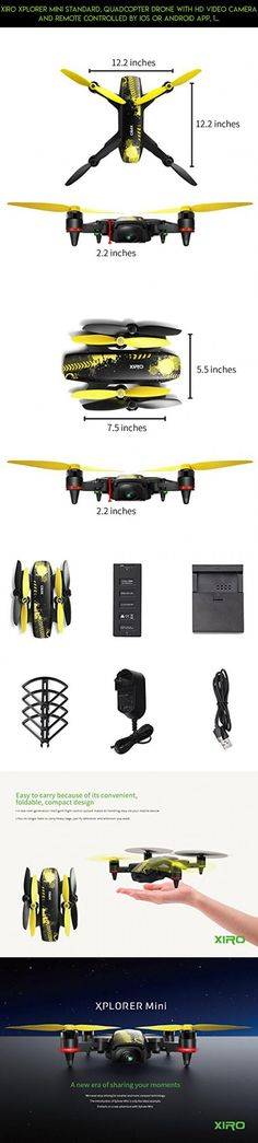 Xiro Xplorer Mini Standard, Quadcopter Drone with HD Video Camera and Remote Controlled by iOS or Android APP, 1 Smart Flight Battery and 1 set Propeller Guard Included #shopping #kit #parts #camera #racing #camera #gadgets #tech #technology #plans #drone #xiro #fpv #products
