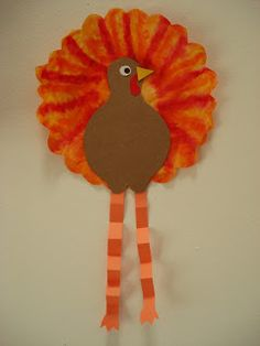 This is a cute Fall and/or Thanksgiving craft I did with a Grade 2 class. Start … This is a cute Fall and/or Thanksgiving craft I did with a Grade 2 class. Start off with a coffee filter: basket-style. Preschool Projects, Classroom Crafts, Daycare Crafts, Preschool Crafts, Kid Crafts, Classroom Organization, Classroom Ideas, Thanksgiving Preschool, Thanksgiving Crafts For Kids