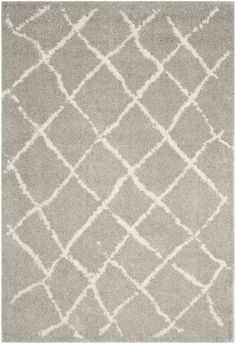 Safavieh Berber Shag BER162B Light Grey / Cream