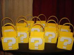 Super Mario Bros party favor bags