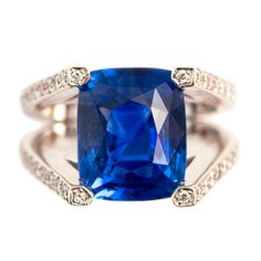 CEYLON Sapphire Ring | From a unique collection of vintage solitaire rings at http://www.1stdibs.com/jewelry/rings/solitaire-rings/