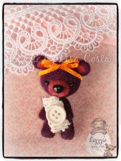 Orange bow little teddy bear