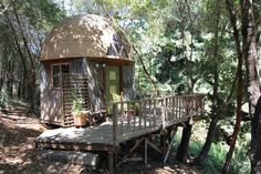 Tiny Home Rentals on Airbnb: mushroom dome cabin