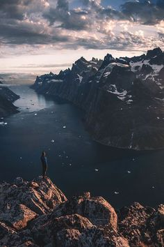 Standing on the edge of the earth