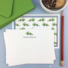 Personalized Kids Stationery / Boys / Note Set / Thank You