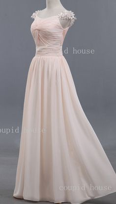 Floral Straps Sweetheart Long Chiffon Bridesmaid Dress 2013 on Etsy, 66,11€