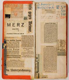 """Kurt Schwitters, Seite aus : """"Schwarzes Notizbuch VI"""", 1921-1923 Kurt und Ernst Schwitters Stiftung, Leihgabe im Sprengel Museum Hannover © ..."""