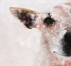hand painted dog oil painting, wall art