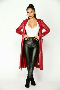 2b09e89bb075d5 Available In Black And Red Polyester Coated Open Front Duster Waist Tie  Polyester Spandex