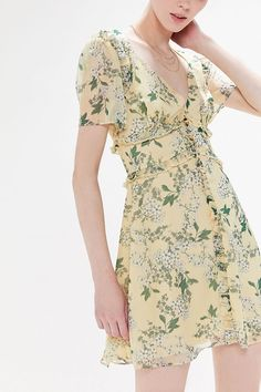 Shop Keepsake Luscious Floral Ruffle Mini Dress at Urban Outfitters today.