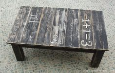 Pallet Wood Stenciled Table. | The 36th AVENUE