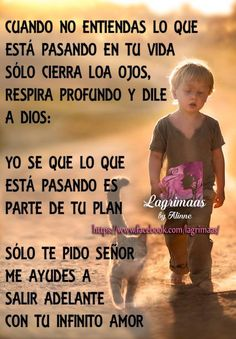 Dios siempre tiene el control Spanish Inspirational Quotes, Spanish Quotes, Happy Day Quotes, Me Quotes, Christian Quotes Images, Little Prince Quotes, Mom Prayers, Spiritual Prayers, Prayer For Family