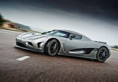 The Koenigsegg Agera R. 5 liter v8. 0-100 in 3 seconds flat. Hells yeah!!!
