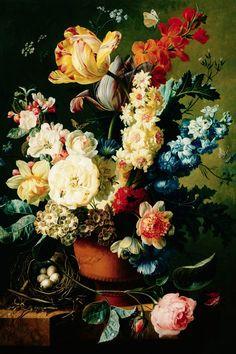 Wanddecoratie Bloemen in vaas
