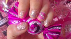 ♥ Liliana Marisoleil♥ : Mis uñas pink con brillitos y gel