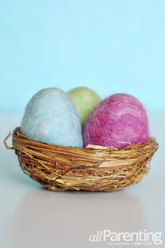 Felted Easter eggs #craft
