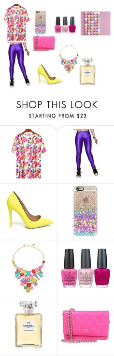 """""""Candy Hearts Look"""" by gabiure on Polyvore featuring moda, Casetify, Kate Spade, OPI y Chanel"""