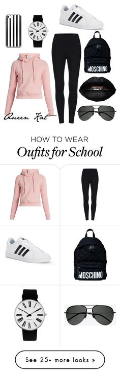 """School outfit"" by queenkatttt on Polyvore featuring Vetements, Yves Saint Laurent, adidas, Rosendahl and Moschino"