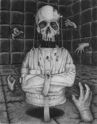Sugar Skull 4 by on DeviantArt Artistic Visions, Emo Art, Gothic Dolls, Straight Jacket, Girl Sketch, Sketch Inspiration, Black And White Drawing, Skull And Bones, Memento Mori