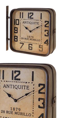 We see this Station Wall Clock and we're immersed in the mental image of a black-and-white photo depicting a 19th century train platform. While the image surely comes from the movies, the inspiration c...  Find the Station Wall Clock, as seen in the Vintage Industrial Bath Collection at http://dotandbo.com/collections/vintage-industrial-bath?utm_source=pinterest&utm_medium=organic&db_sku=113725