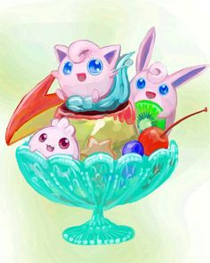 Pokémon Art Museum (Pudding à la mode by Rousokuku) Make A Pokemon, Pokemon Pins, Pokemon Fan Art, Cute Pokemon, Pokemon Games, Princesa Peach, Digimon, Cute Art, Cartoon Characters