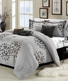 Take a look at this Silver Chiela Comforter Set by Chic Home Design on #zulily…