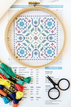 Everything you need to know about reading a cross stitch pattern.