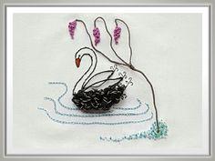 Swan Lake Stumpwork & Embroidery Pattern
