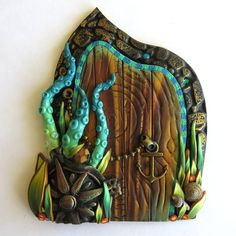 Kraken Sea Craeture Fairy Door by Claybykim on Etsy                                                                                                                                                      More