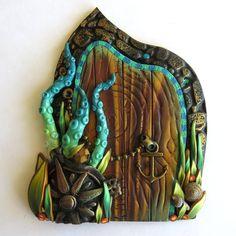 Kraken Sea Craeture Fairy Door by Claybykim on Etsy…