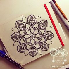 #мандала #графика #орнамент #узор #graphic #art #edding1880 #mandala #ornament #pattern #drawing #рисунок #zentangle #зентангл #dotwork #sketchbook #sketch #paint #instagood #drawing #artwork #tattooart #tattoo #henna #moleskine #молескин | par Gromova_Ksenya