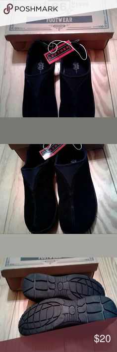 Route 66 suede slip-on sneakers Route 66 black suede slip-on sneakers, size 9 brand new with boxing tag. Shoes Sneakers