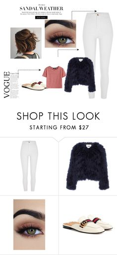 """""""#1 Flying to London"""" by ingridmarqss on Polyvore featuring moda, River Island, MSGM, Gucci e WithChic"""